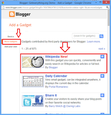 How To Add Wikipedia Search Widget In Your Blogger