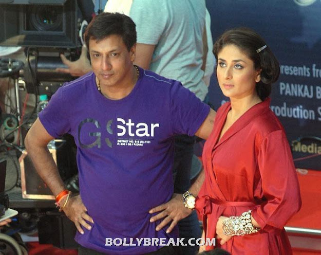 Kareena Kapoor in Red Bathrobe on the sets of Heroine Movie - (2) - Kareena Kapoor Madhur Bhandarkar Heroine Movie On the Set Pics