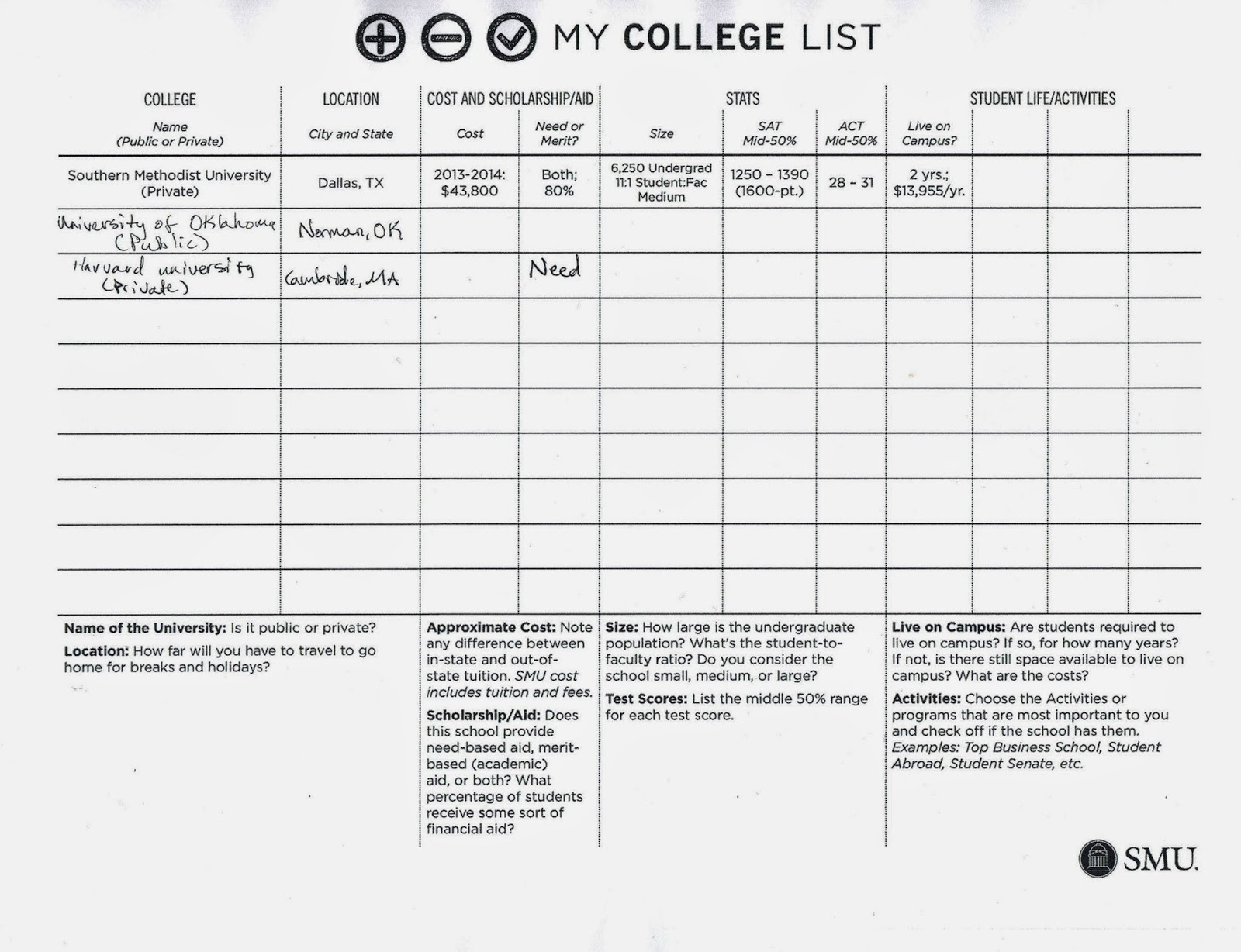 keep up with details of college applications