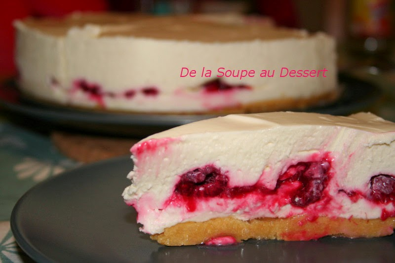 de la soupe au dessert cheesecake chocolat blanc framboises. Black Bedroom Furniture Sets. Home Design Ideas