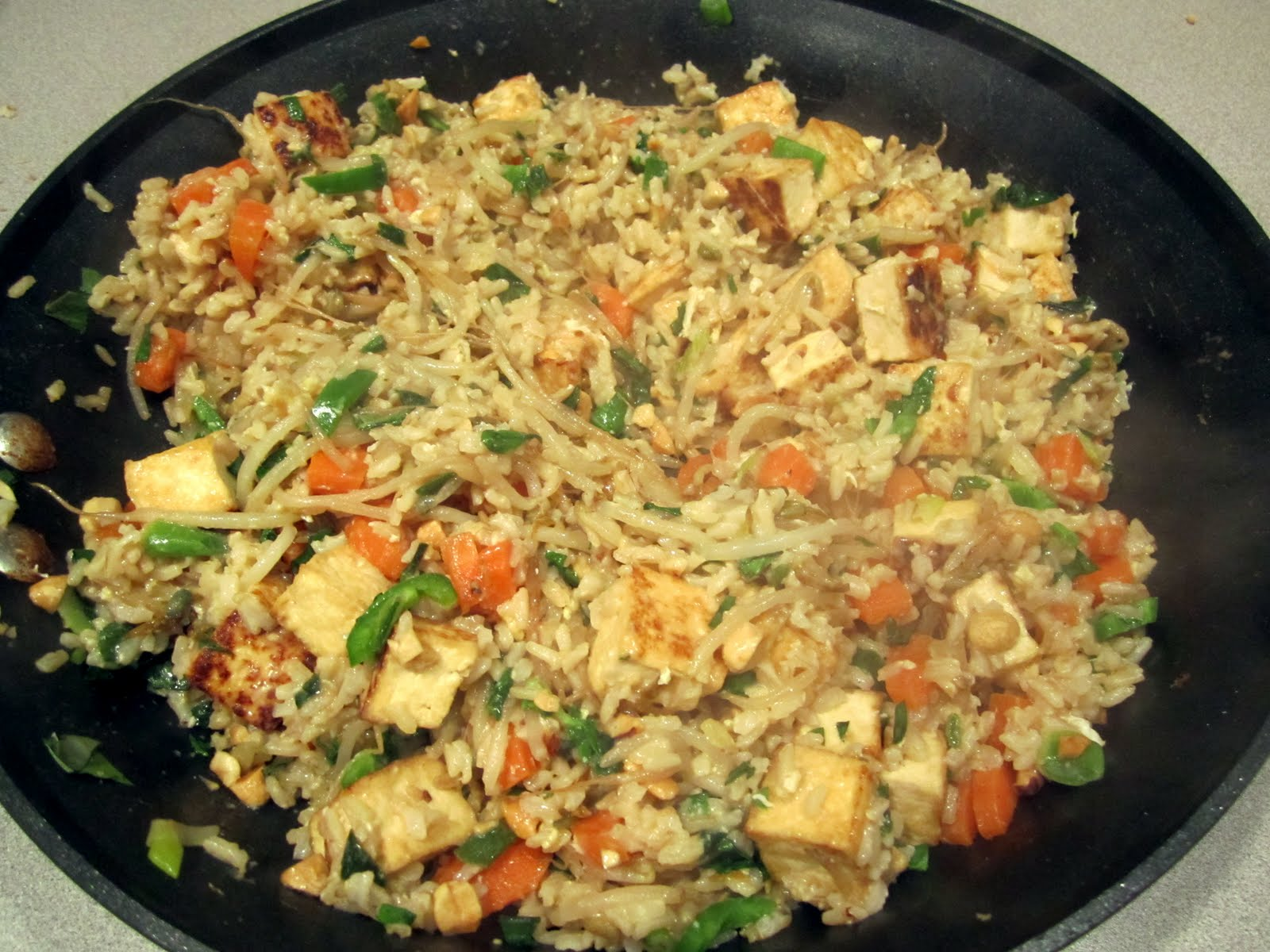 little fancy: spicy fried rice with bean sprouts