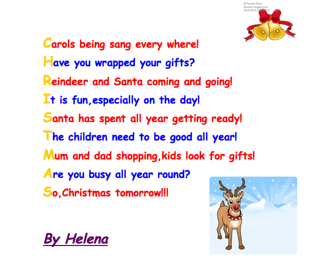 Merry Christmas Acrostic Poem Decorating Ideas