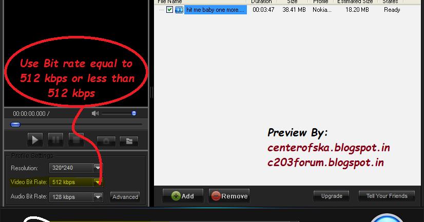 NOKIA C2-03/ Asha Low Memory series FORUM @ ska: video converter for ...