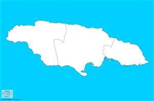 Mapa mudo de Los condados de Jamaica