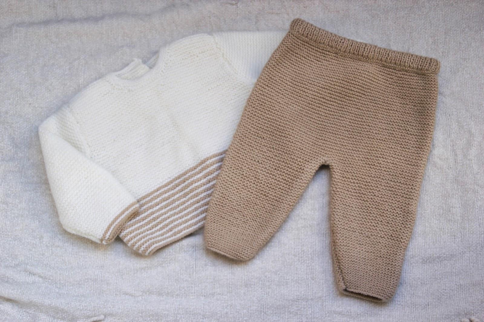 Diy conjunto beb parte 1 c mo hacer pantalones de lana - Puntos de lana ...