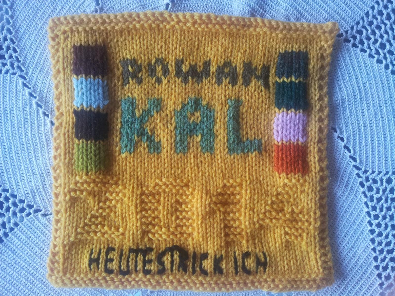 Rowan Mystery Afghan Knit-a-long - Das letzte Quadrat trägt meine ...