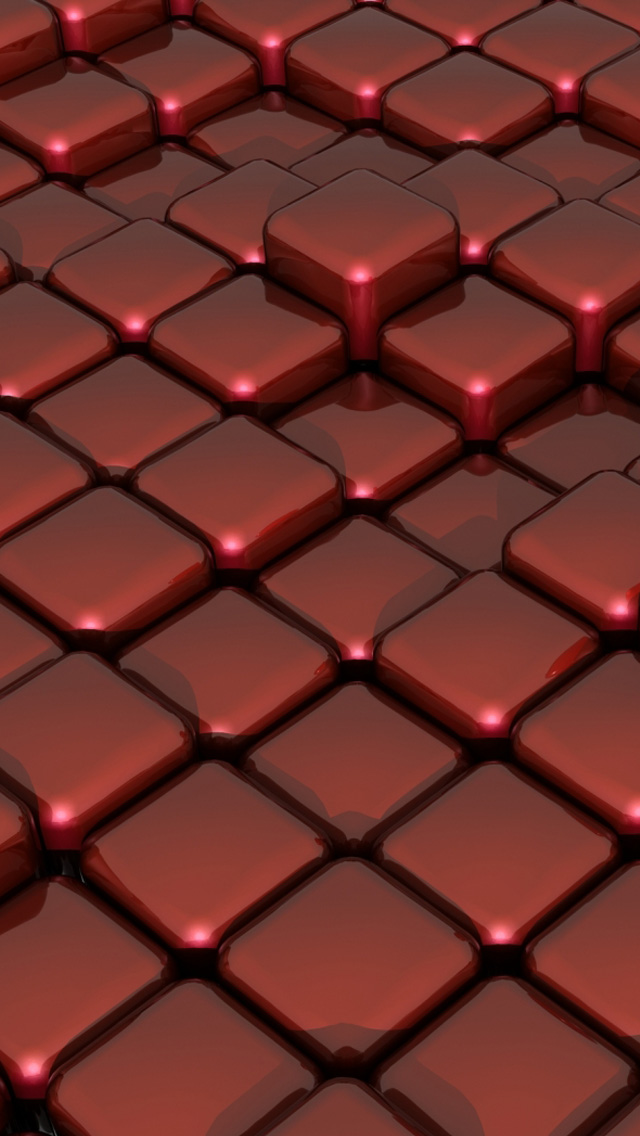 3d red glass on box floor iphone 5 wallpaper iphone 6