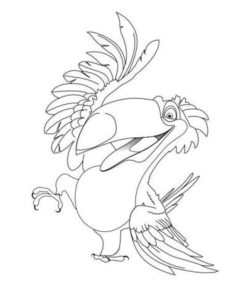 Kids Under 7: RIO Coloring Pages Rio Macaw Coloring Page