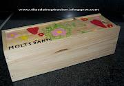 Pintar una caja de madera es una de esas manualidades para niños que podemos . caja madera pintada