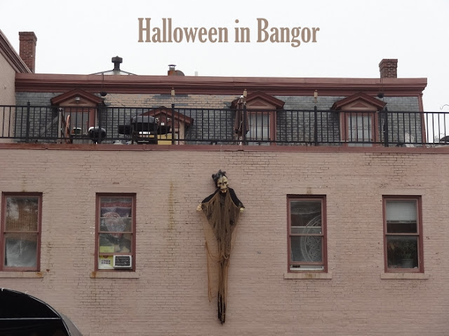 Halloween,Bangor,Maine,Downtown,decorations,Columbia Street,photo