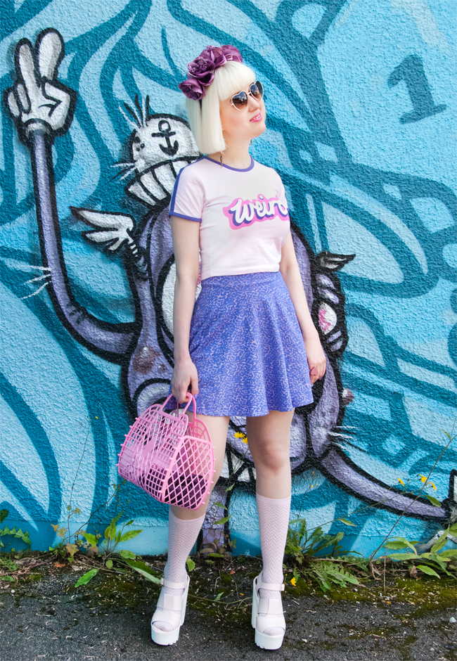 lazy oaf ss14, barbie logo type tshirt, kawaii look