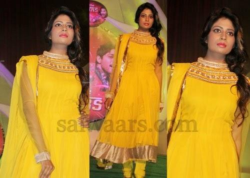 Shubha Sree Yellow Salwar Kameez