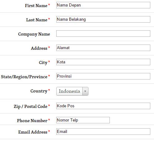 Form Data Pribadi
