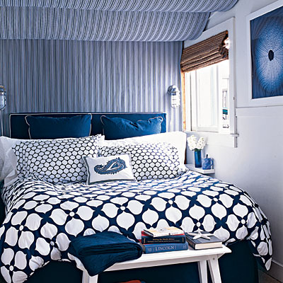 webster road: navy + white bedrooms...love!