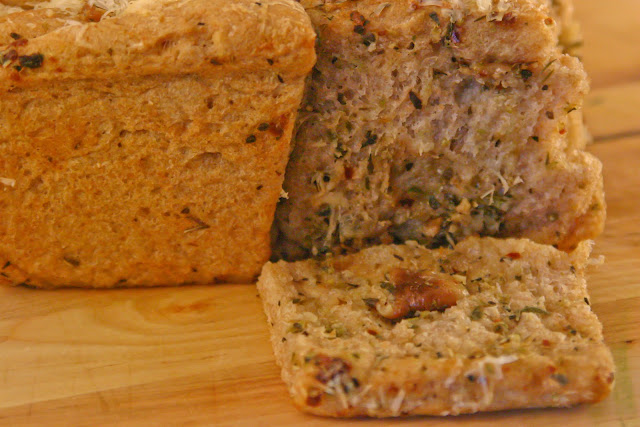 garlicky, herbed bread