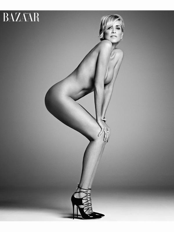 Sharon Stone bares all in Harper's Bazaar September 2015 photoshoot