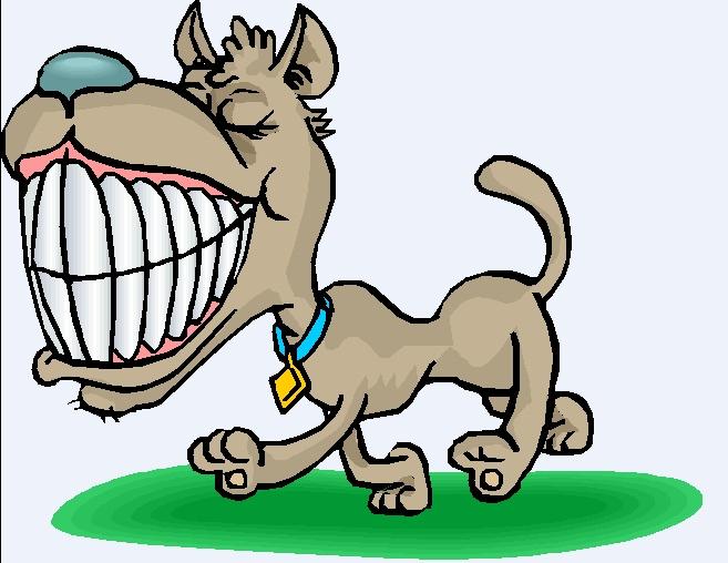 Как рисовать зубы собаки