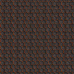 Brown Metallic Grid Pattern