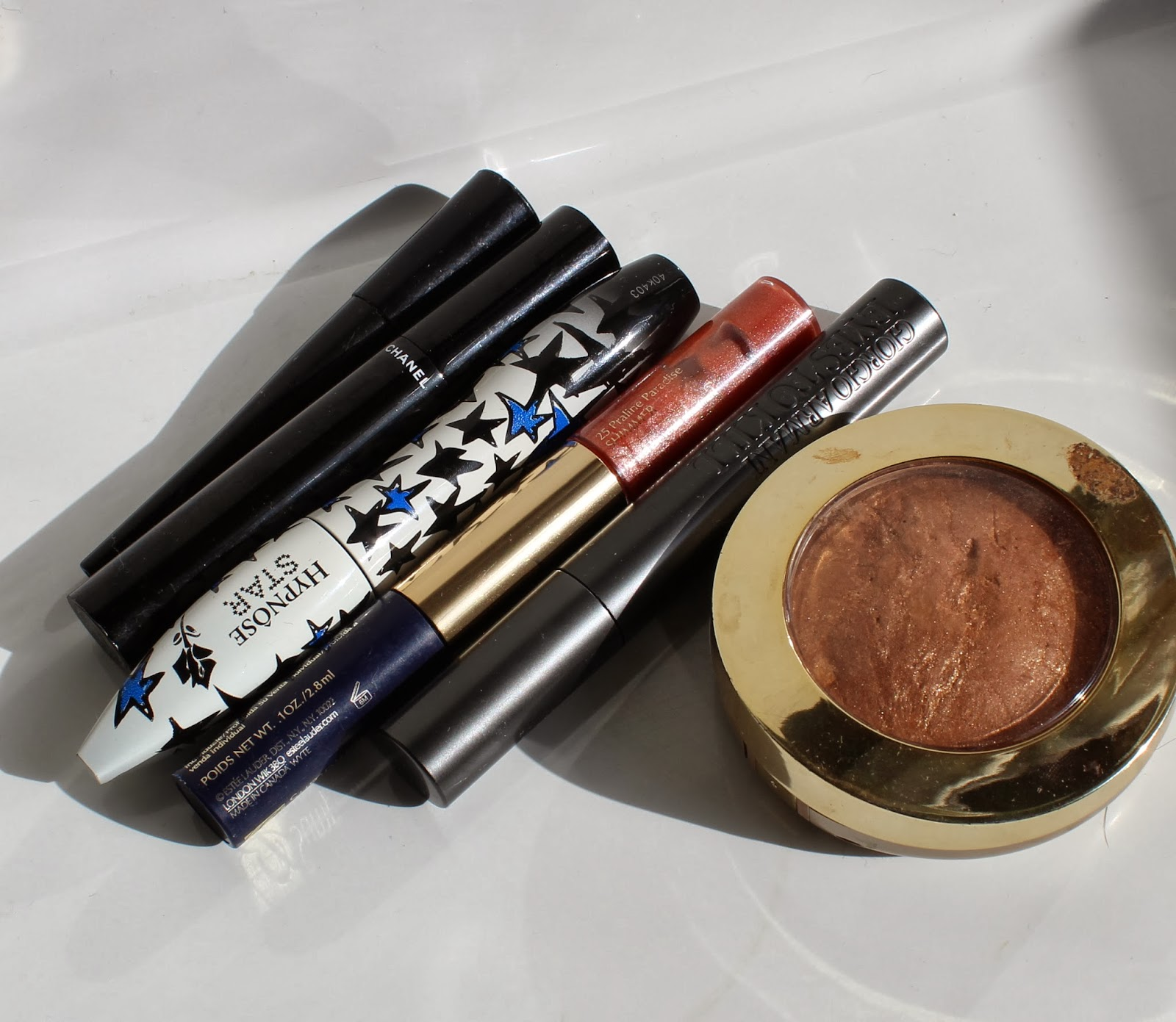 lancome hypnose chanel le volume milani baked bronzer elf armani eyes to kill