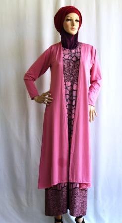 Gamis Cardigan Panjang Gkm4694 Grosir Baju Muslim Murah