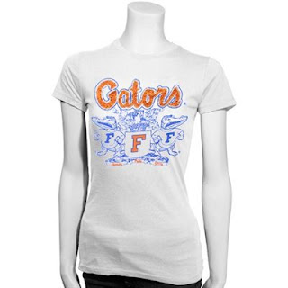 Florida Gators NCAA Rhinestone Shield T-Shirt