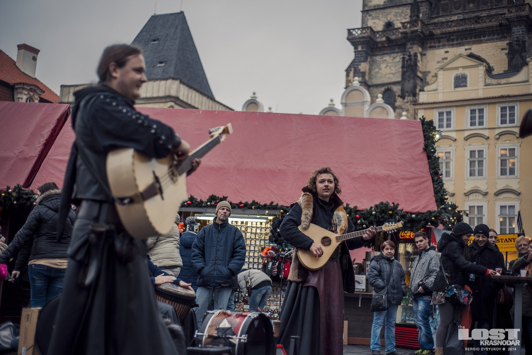 Medieval music band in Prague