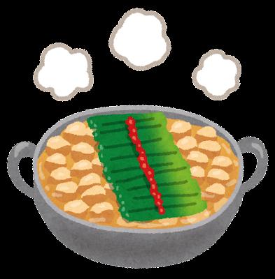 モツ鍋のイラスト