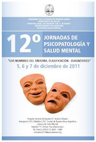 12º Jornadas de Salud Mental del Hospital. Diciembre 2011.