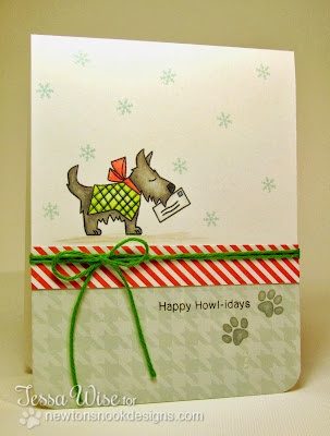 Dog Christmas card by Tessa Wise for Newton's Nook Designs