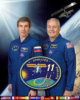 ISS Expedition 11 Crew Portrait with Krikalev and Phillips
