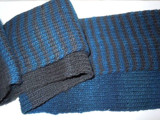 Top Two Color Knit Scarf Pattern Wallpapers