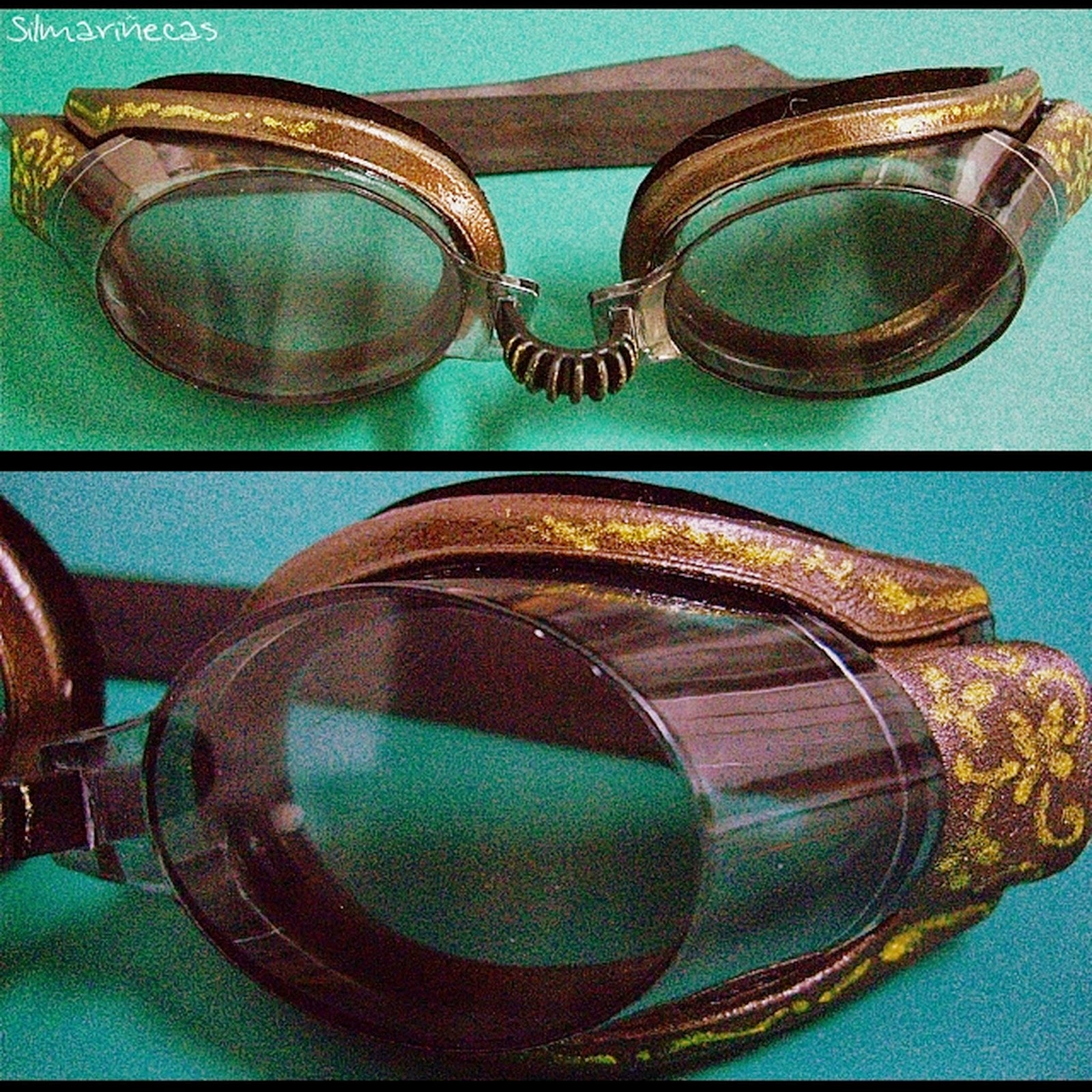 tutorial how to make steampunk glasses-