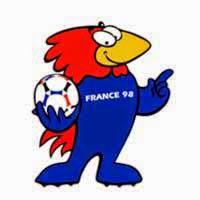 Mascote oficial da Copa do Mundo de 1998, realizada na França.