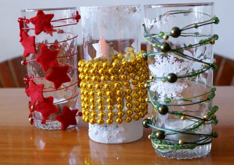 Tutti i colori di cria idee per natale 2 - Bicchieri decorati per natale ...