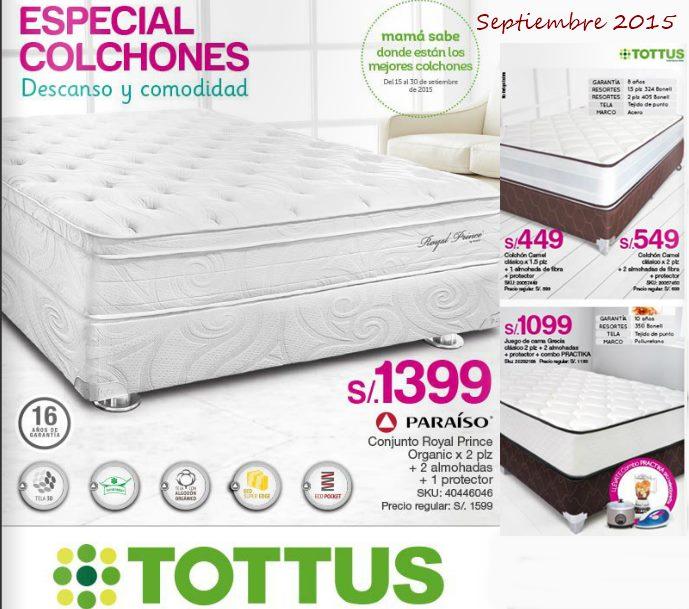 Catalogo tottus peru camas y colchones sep 2015 - Catalogo de colchones ...