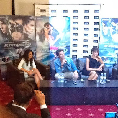 Hrithik and Priyanka romote Krrish 3 in London