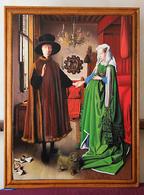 Arnolfini Portrait (Van Eyck) - oil painting reproduction by Marcello Barenghi