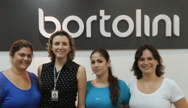 Claudia, Andrea, Nathália e Fernanda, da equipe Bortolini Esctech: atendimento cordato e eficaz.
