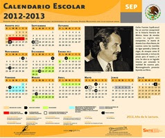Calendario 2012-2013
