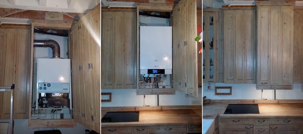 Peut on installer une chaudi re dans un placard elyotherm - Comment cacher un placard sans porte ...