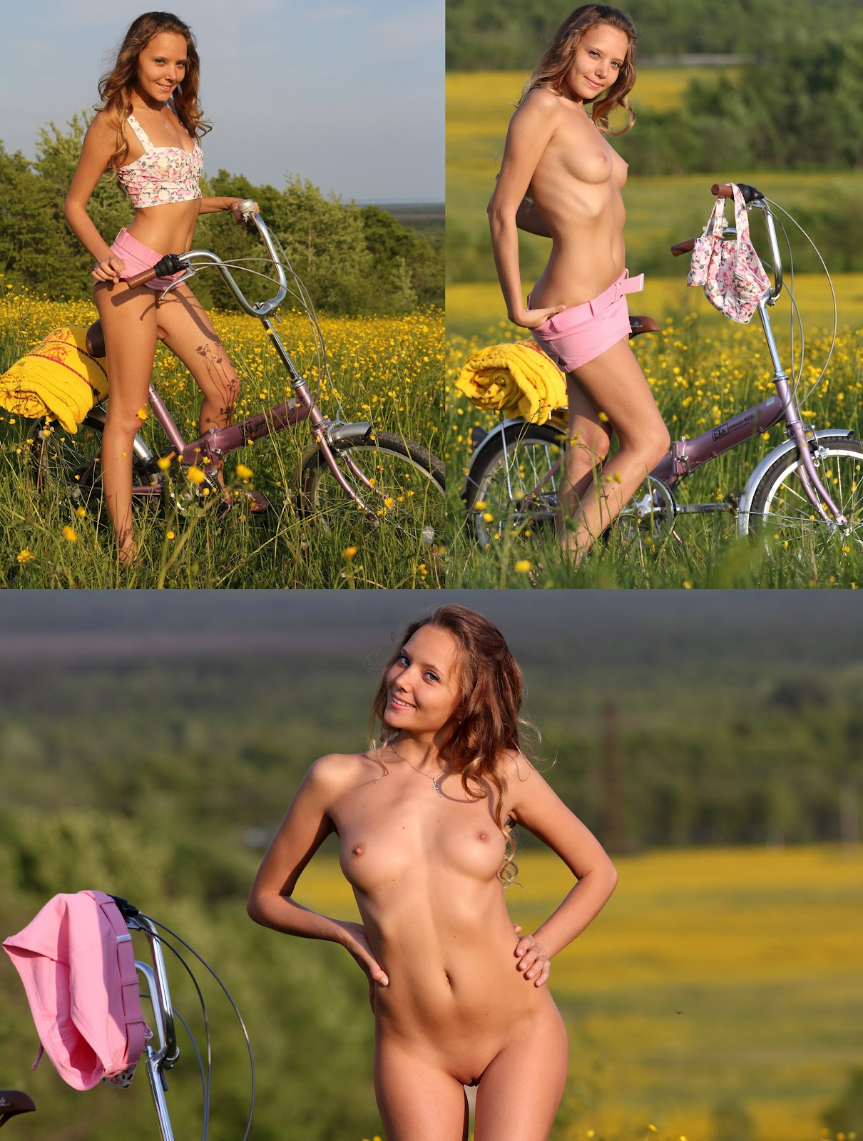 Nude bike girl