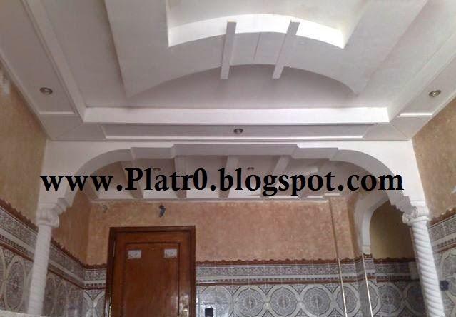 Platre marocain moderne chambre design de maison for Decoration jebes