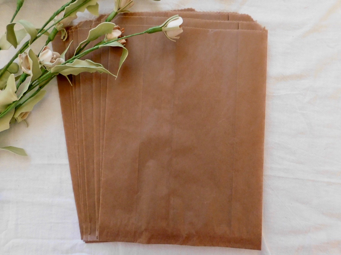 Large Kraft Glassine bag - Set of 10 - Price $3.75