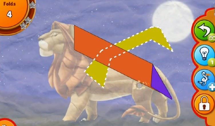 Origami Challenge Android App walkthrough.