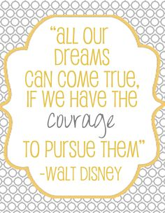 Dream big and pursue your dreams, don't ever give up!  www.HealthyFitFocused.com