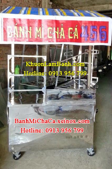 Bán xe bánh mì chả cá inox ở TPHCM