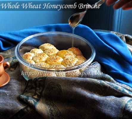 Whole Wheat Honeycomb Brioche بريوش خلية النحل بدقيق الحبة الكاملة