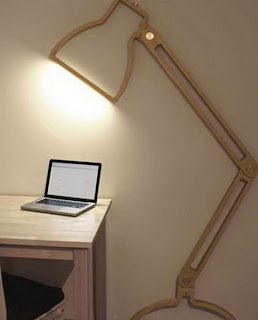 Desain lampu meja / lampu kantor atau lampu baca ini dibuat oleh orang ...