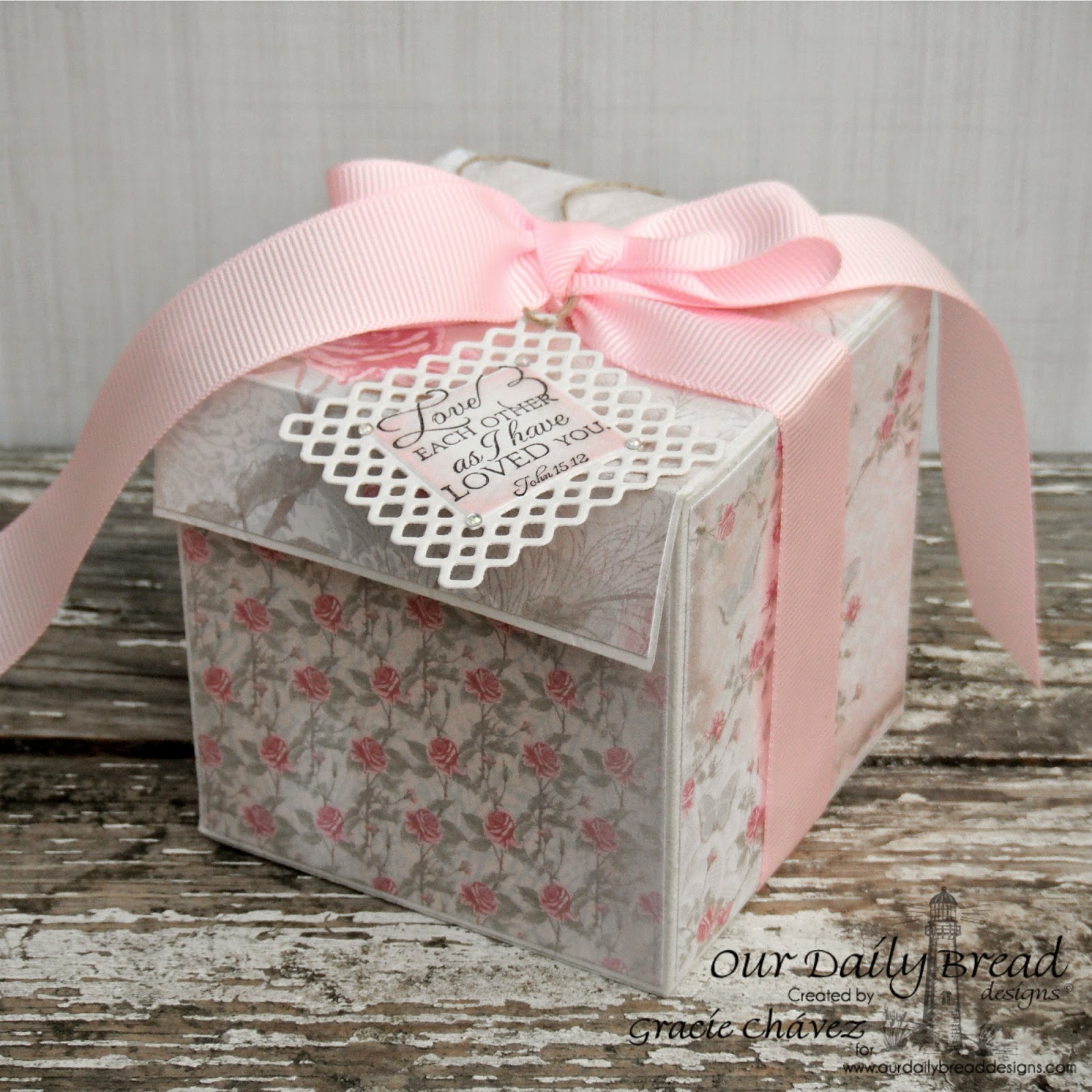 Our Daily Bread Designs, Bless your Heart, Shabby Rose Collection, Layered Lacey Squares, Designed by Gracie Chávez