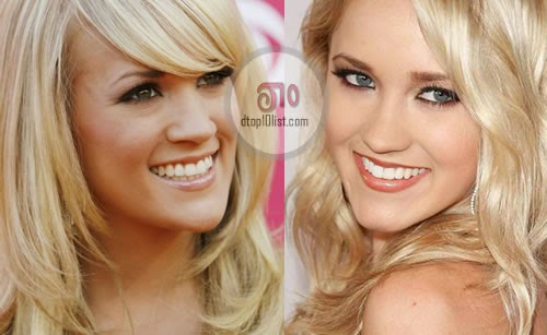 Emily Osment and Carrie Underwood